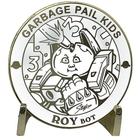 GPK-FL-01-C Roy Bot Topps Officially Licensed Joe SIMKO Artist Collaboration GPK Challenge Coin Garbage Pail Kids