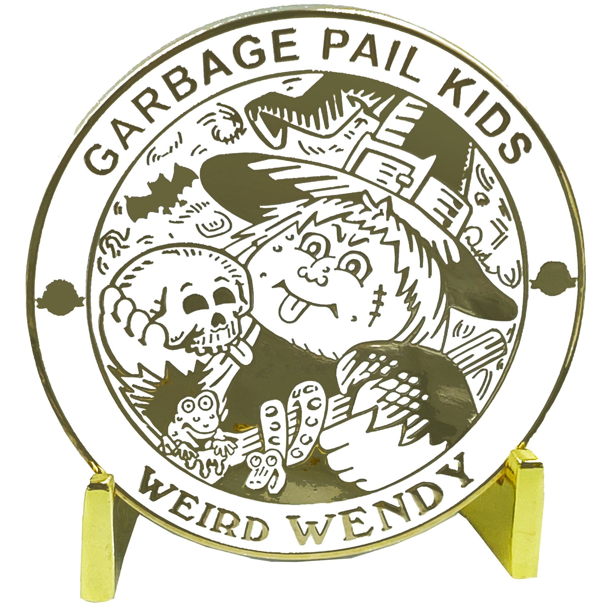 GPK-CC-002 WEIRD WENDY Topps Officially Licensed David Gross Artist Collaboration GPK Challenge Coin Garbage Pail Kids