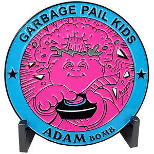 GPK-DD-007 Pink Blue Variation 3 inch SIMKO Topps Officially Licensed Adam Bomb GPK Challenge Coin Garbage Pail Kids