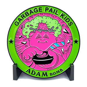 GPK-DD-007 Pink Blue Green Variation 3 inch SIMKO Topps Officially Licensed Adam Bomb GPK Challenge Coin Garbage Pail Kids