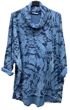 Load image into Gallery viewer, Marble Print Cowl Neck Tunic