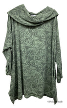 Load image into Gallery viewer, Rose Print Cowl Neck Tunic