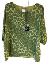 Load image into Gallery viewer, Ocelot Print Cotton Top