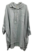 Load image into Gallery viewer, Oversized Linen Shirt