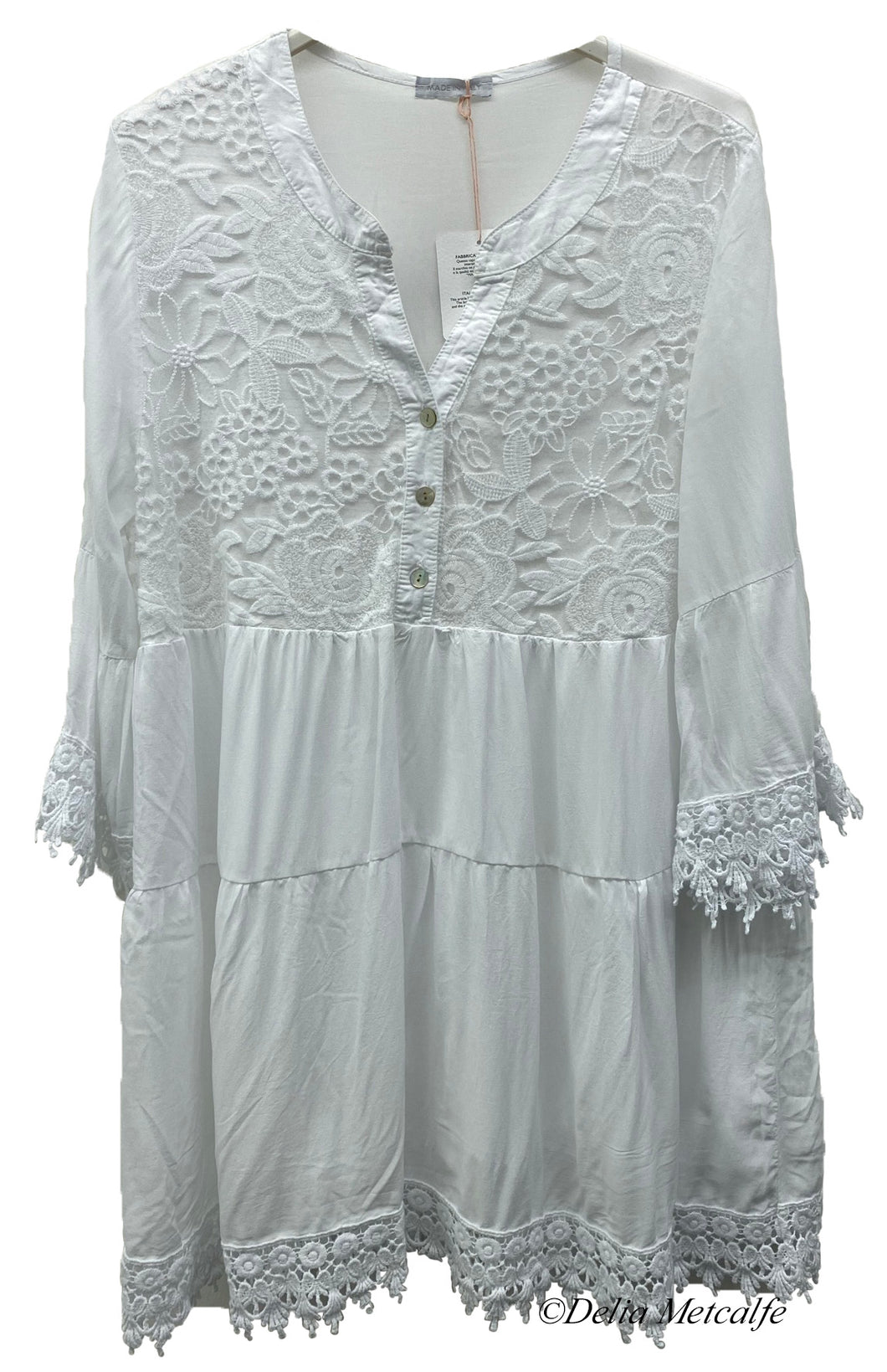 Broderie Anglaise Floral Tunic