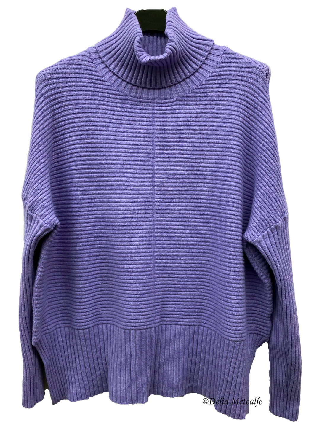 Shorter Knitted Polo Jumper
