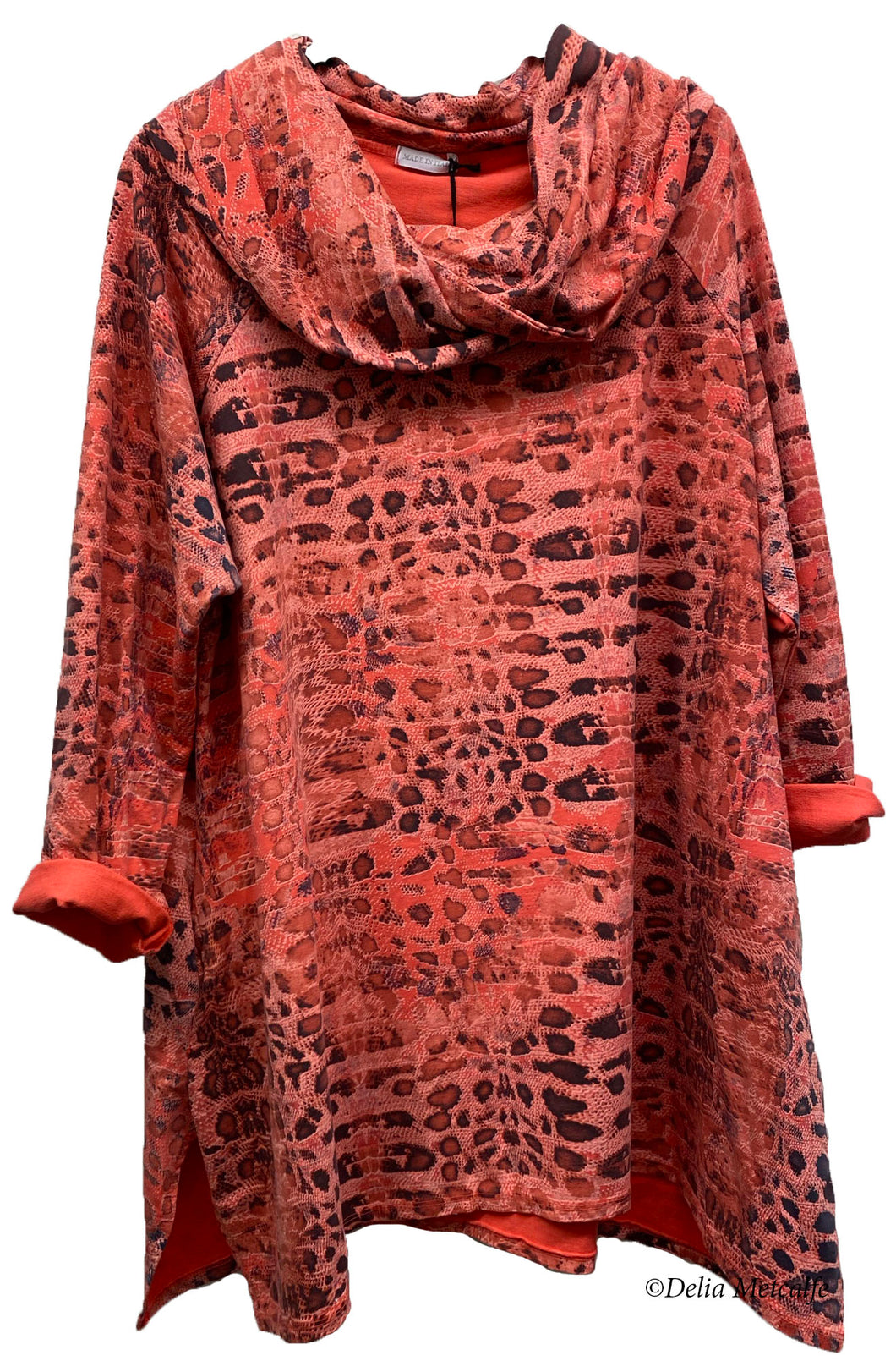 Distressed Pebble Print Tunic
