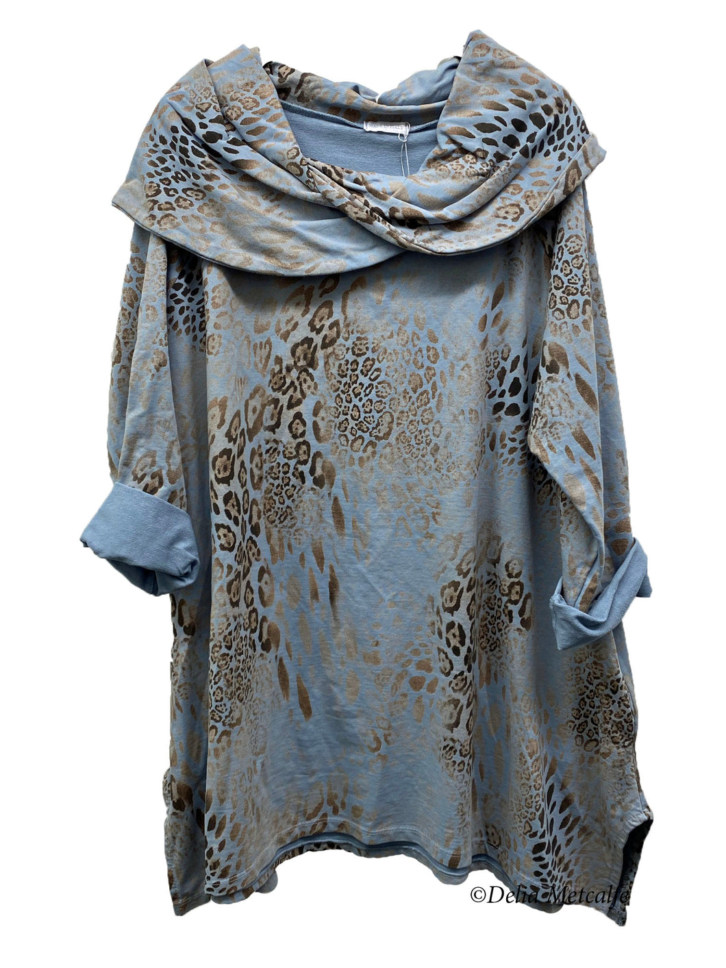 Distressed Skin Print Tunic