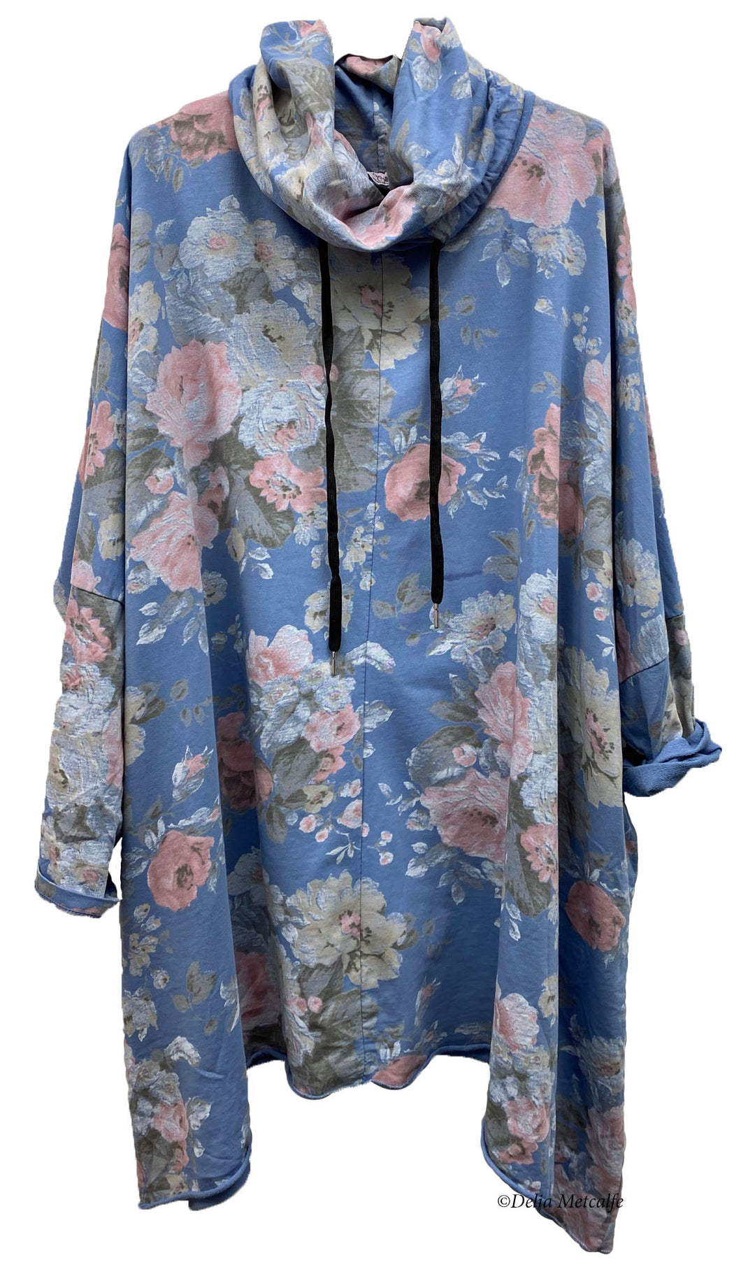 Floral Cowl Neck Tunic
