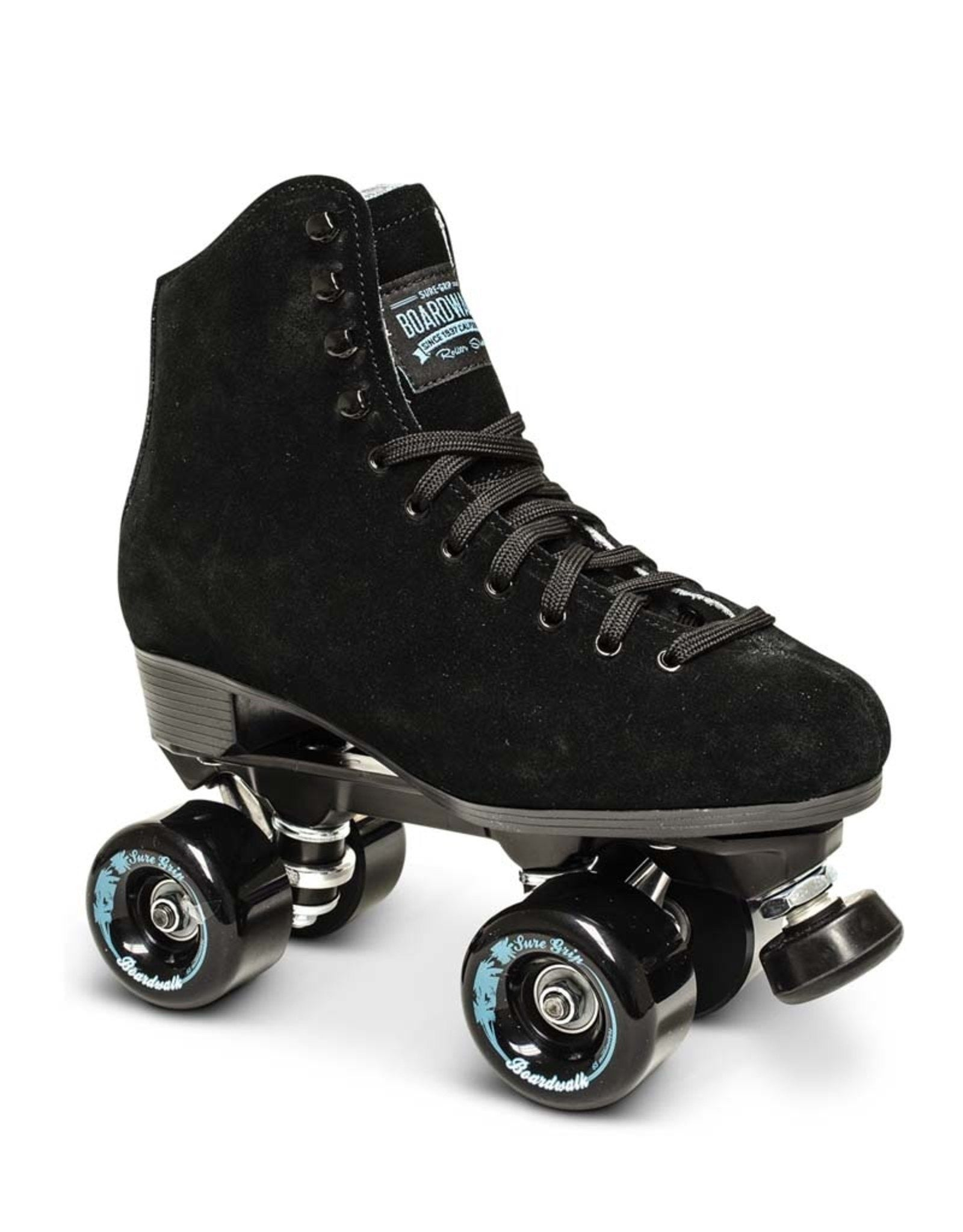 Sure-Grip Boardwalk Outdoor Roller Skate (Black)