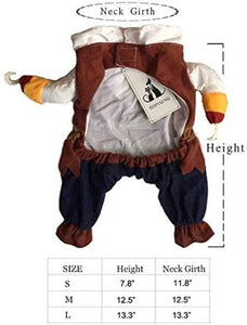 Caribbean Pirate  Costume for Small to Medium Dogs/Cats