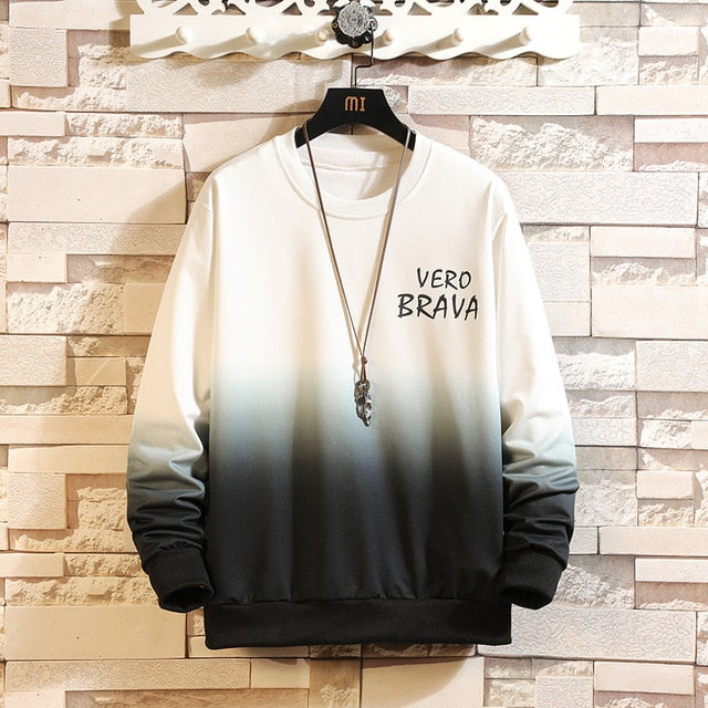 Autumn Spring 2020 Hoodies Sweatshirt Mens Black White Hip Hop Punk Pullover Streetwear Casual Fashion Clothes Plus OVERSize 5XL