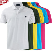 Load image into Gallery viewer, High Quality Polo logo color brand Polo Shirt Casual Polo Shirts men's short sleeve polo shirt New Arrival tops tee