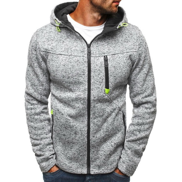 2020 Spring Men's Sweatshirt Hoodies Sweatershirt Zipper Sweatshirt Men Tide Jacquard Hoodies Streetwear Hip  Coat