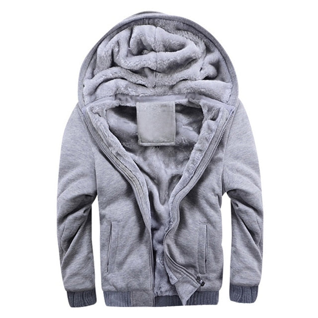 SHUJIN Spring Tracksuit Men Fashion Thicken Velvet Casual Hooded Warm Thick Hoodie Solid Moleton Masculino Sweatshirt