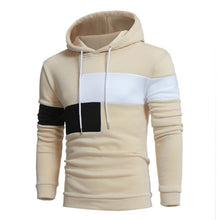 Load image into Gallery viewer, CYSINCOS Hoodies Men Hip Hop Top Contrast Color Casual Pullover Hoodie Men Fleece Sweatshirts Warm Fall Thick Hoody Mens Hoodies