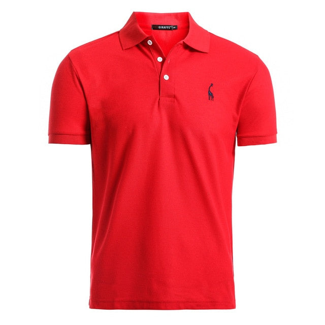 NEGIZBER New Man Polo Shirt Mens Casual Deer Embroidery Cotton Polo shirt Men Short Sleeve High Quantity polo men