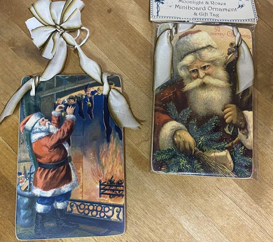 Ornament/Gift Tag - Moonlight & Roses