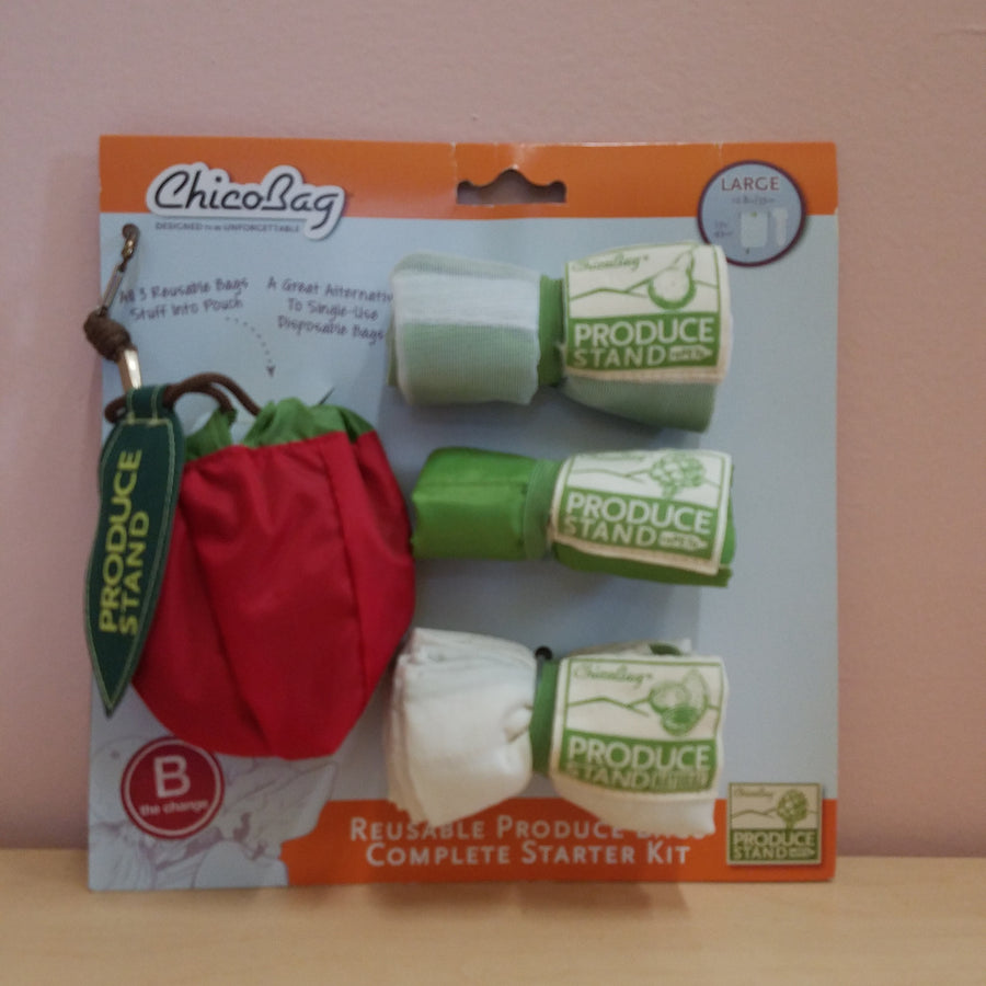 Produce Bag Set of 3 w/ Apple Sleeve