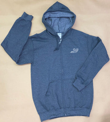 IN STOCK - Adult S - Charcoal Fleece Zip Up Hoodie - Vinyl