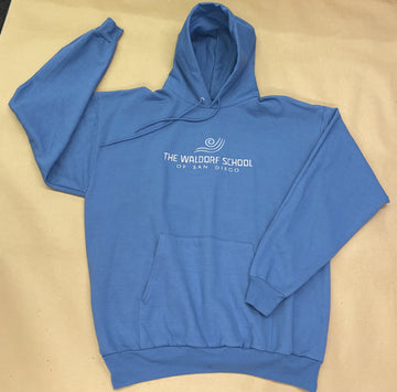 IN STOCK - Adult - Slate Blue Fleece - Pullover Hoodie - Embroidery