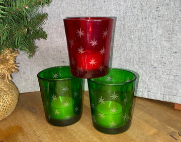 Tea Light/Votive Holder - Christmas