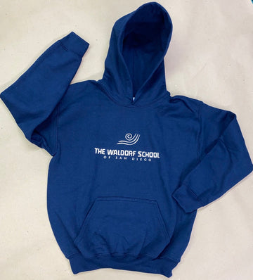 Adult & Youth - Navy Fleece Pullover Hoodie - Vinyl