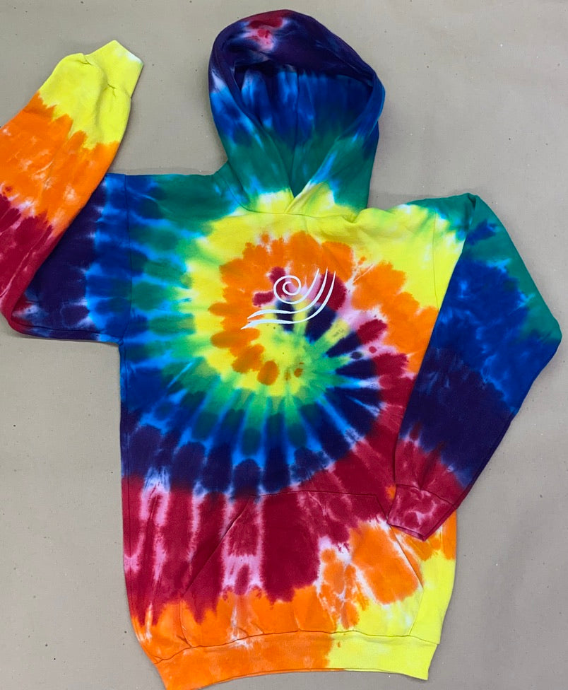 IN STOCK Youth - Tie Dye Fleece Pullover Hoodie - Vinyl