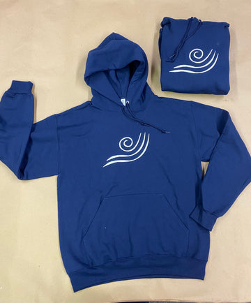 IN STOCK - Adult - Navy Fleece Pullover Hoodie - Vinyl