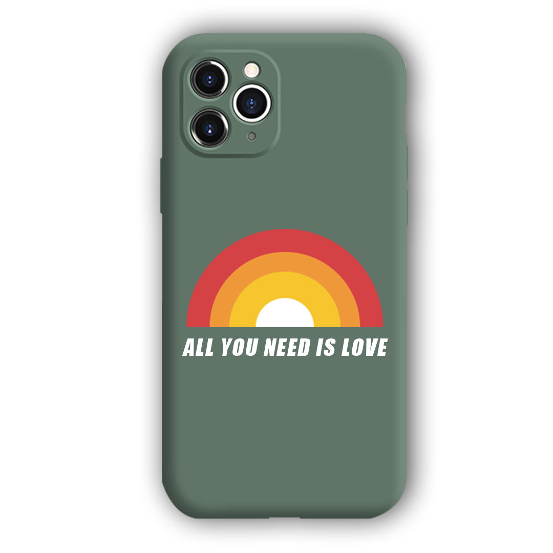 [All You Need Is Love]Complete iPhone Models New Liquid Silicone Mobile Phone Case