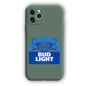 [Bud Light]Complete iPhone Models New Liquid Silicone Mobile Phone Case