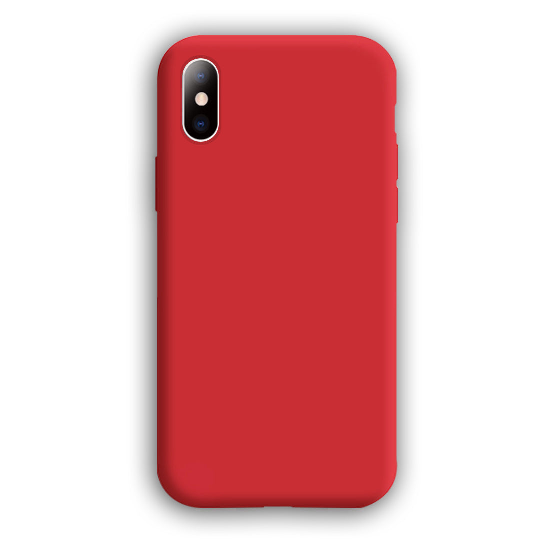 [Pure Color Series]iPhone X-XS MAX New Liquid Silicone Mobile Phone Case(Complete iPhone Models)