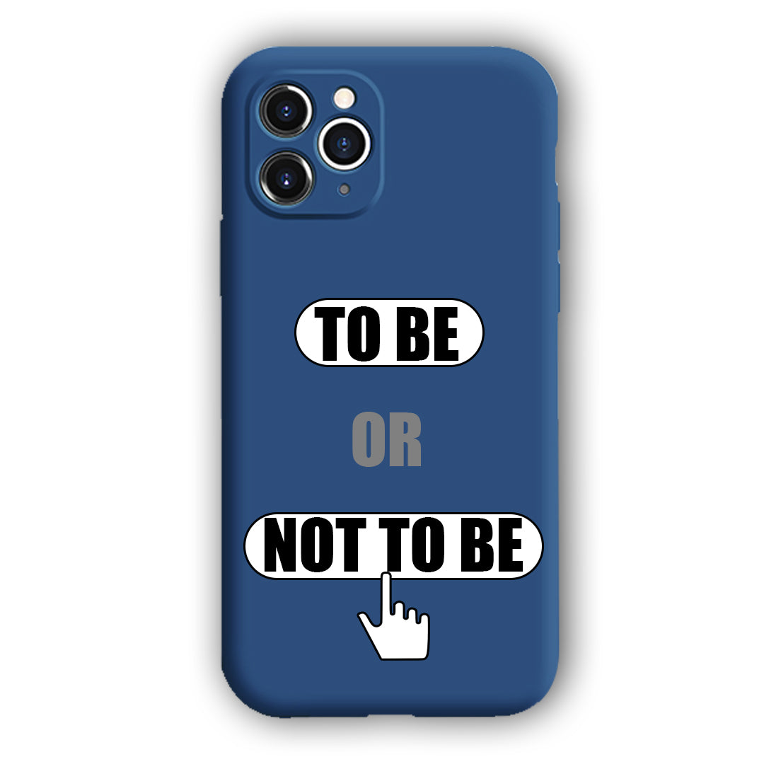 [To Be,Or Not To Be]Complete iPhone Models New Liquid Silicone Mobile Phone Case