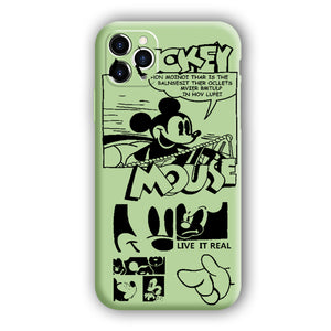 [Mickey Mouse]Complete iPhone Models New Liquid Silicone Mobile Phone Case