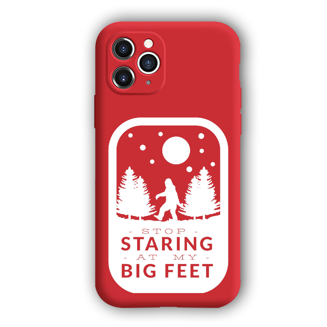 [Stop Staring My Big Feet Sticker]Complete iPhone Models New Liquid Silicone Mobile Phone Case