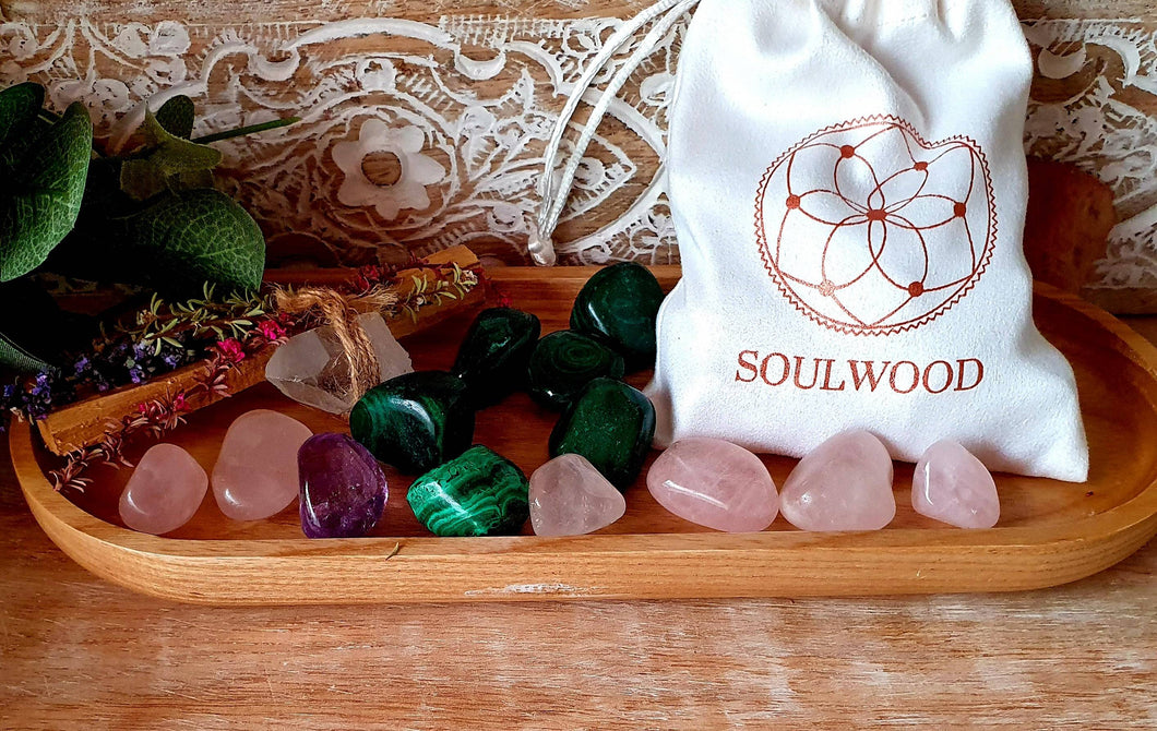 Crystal Grid Stone Set - Love