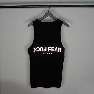 3M REFLECTIVE 'FUCK FEAR' TANK - BLACK