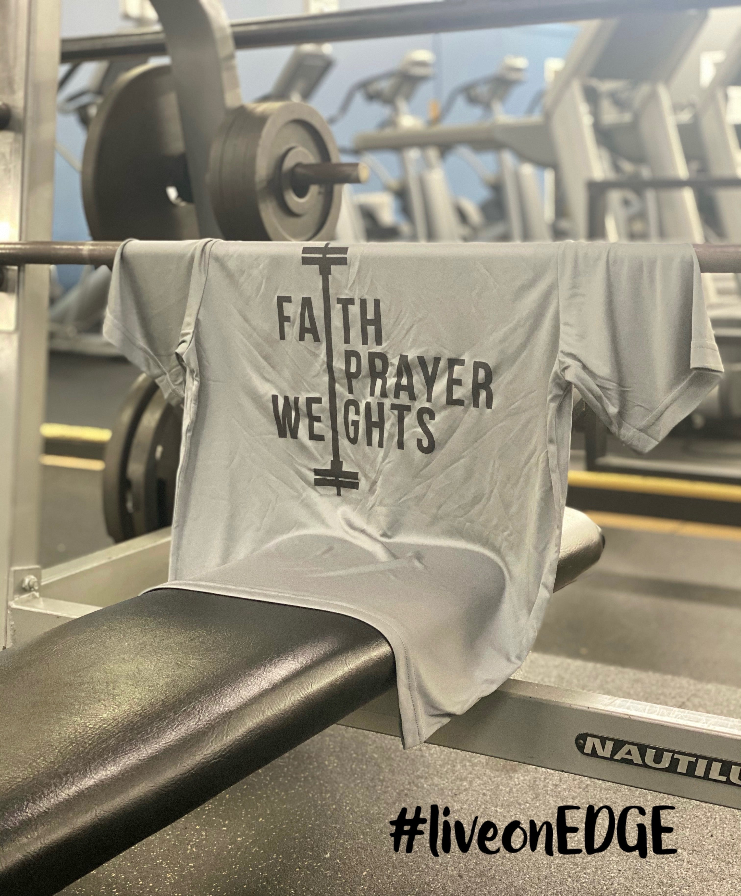 RenewU-Faith, Prayer, Weights (Men and Women Fitness T-Shirts)