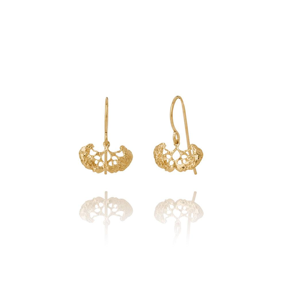 Erika Collection 102GP - 18k Gold-Plated Earrings - AURUM Icelandic Jewelry