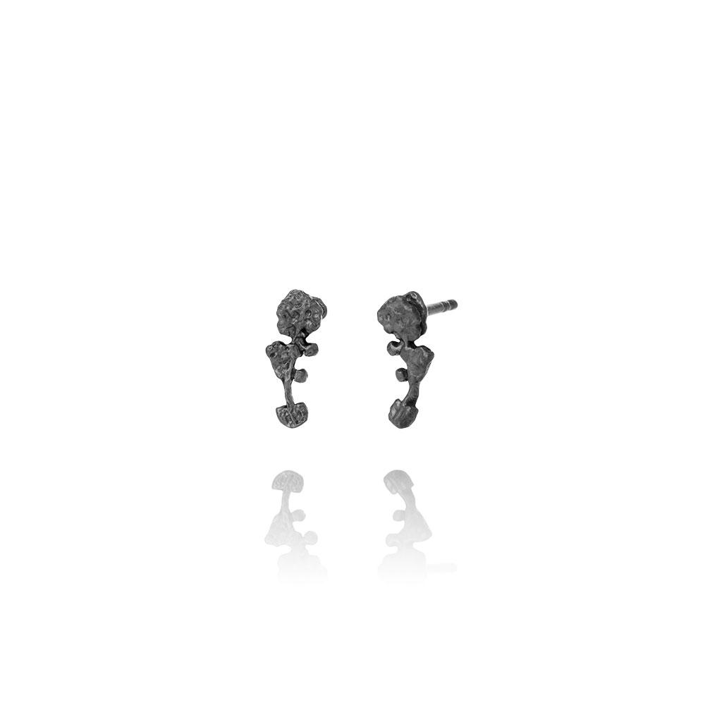 Erika Collection 103OX - Oxidized Sterling Silver Earrings - AURUM Icelandic Jewelry