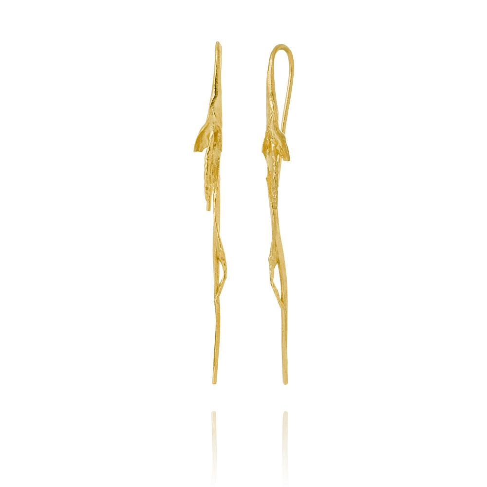 Erika Collection 105 GP - Drop Earrings in Gold Plated 925 Sterling Silver - AURUM Icelandic Jewelry