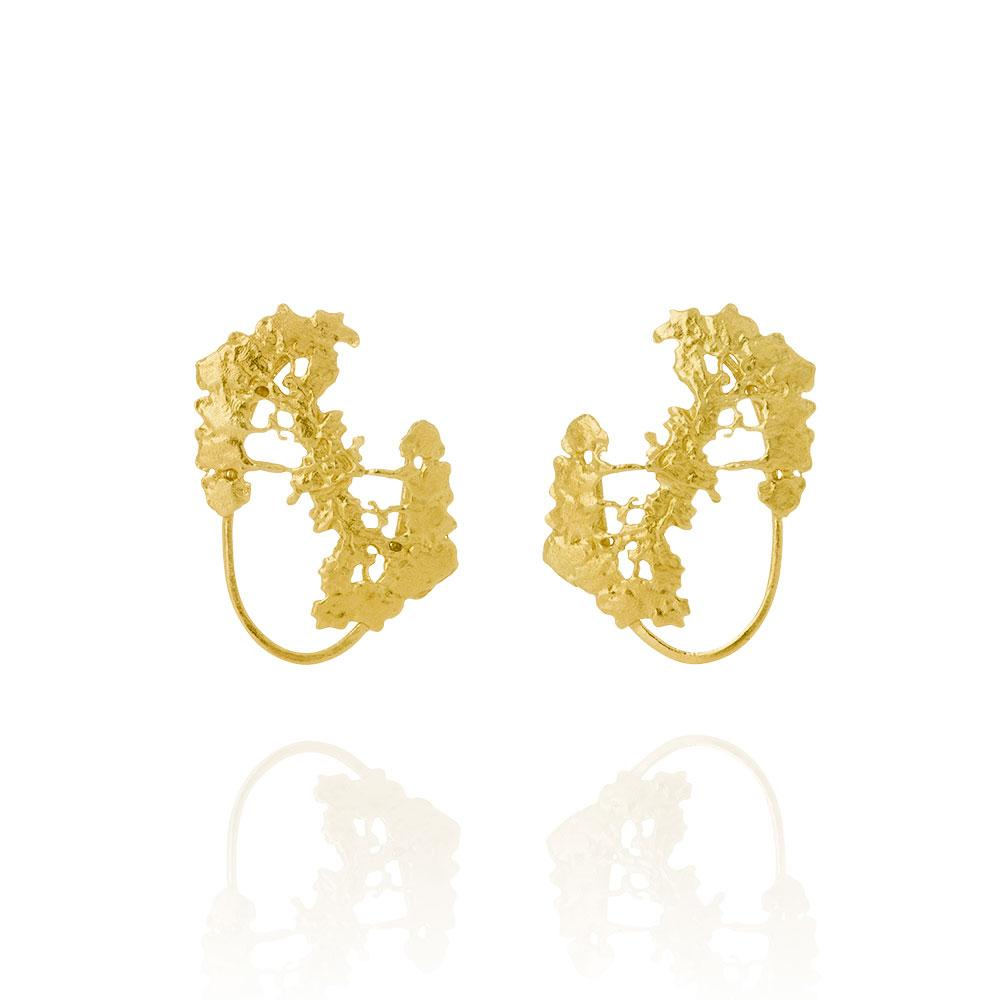 Erika Collection 106 GP - Stud Earrings in Gold-Plated 925 Sterling Silver - AURUM Icelandic Jewelry