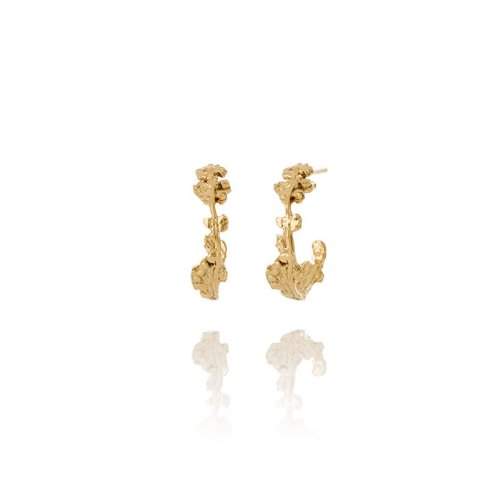 Erika Collection 107 GP - Stud Earrings in Gold-Plated 925 Sterling Silver - AURUM Icelandic Jewelry