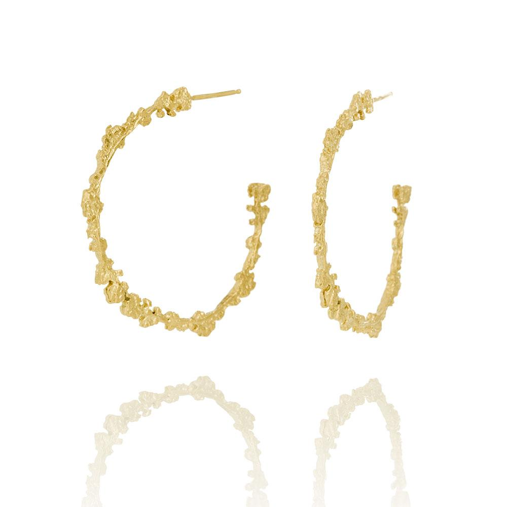 Erika Collection 109 GP - Hoop Earrings in Gold-Plated 925 Sterling Silver - AURUM Icelandic Jewelry