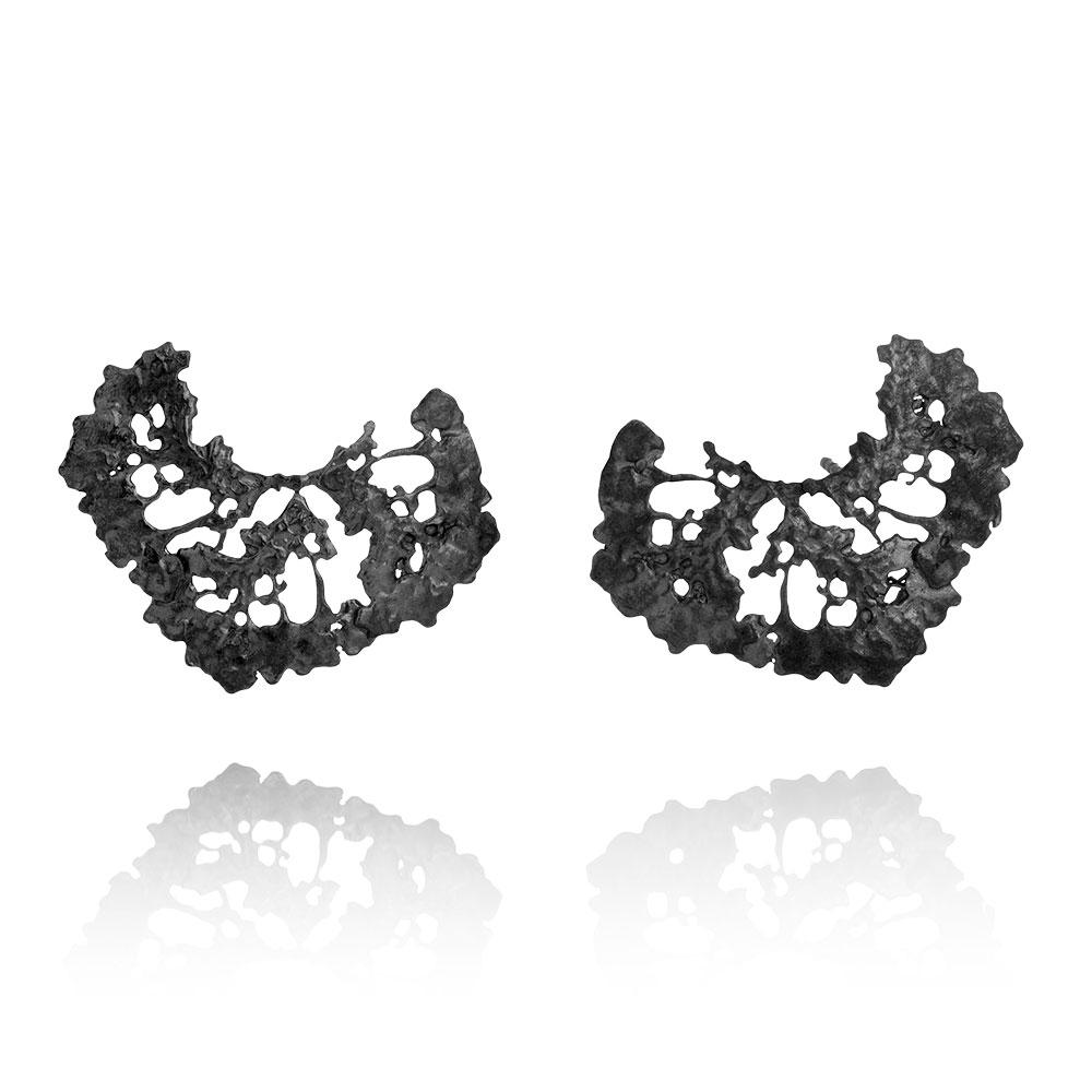 Erika Collection 110 OX -  Earrings in Oxidized 925 Sterling Silver - AURUM Icelandic Jewelry