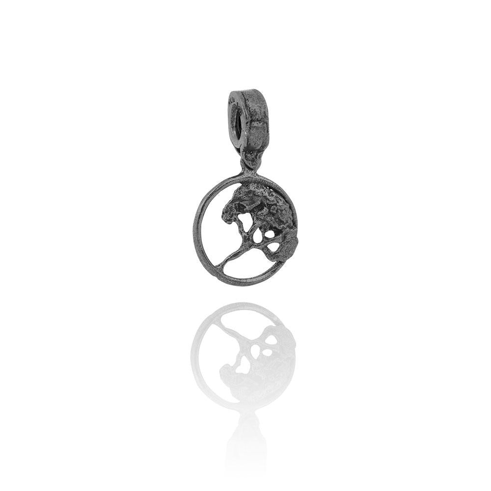 Filia Oxidized Silver Tree Charm