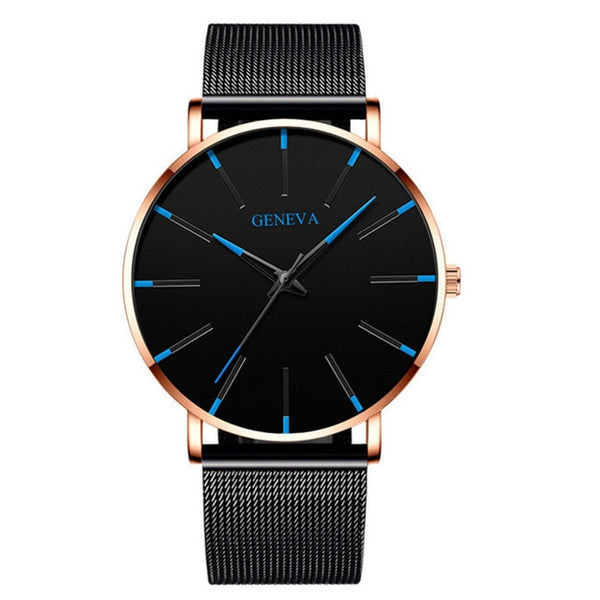 Business Stainless Steel Mesh Belt Quartz Watch