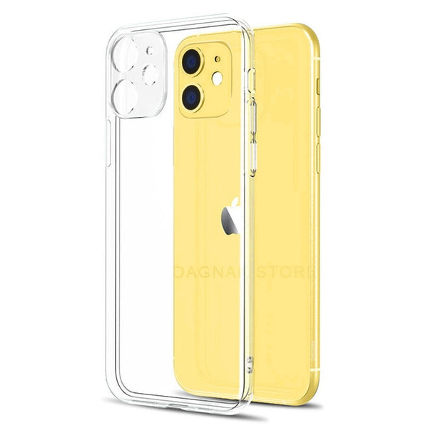 Lens Protection Clear Phone Case For iPhone 11 7 Case Silicone Soft Cover For iPhone 11 Pro XS Max X 8 7 6s Plus 5 SE 11 XR Case