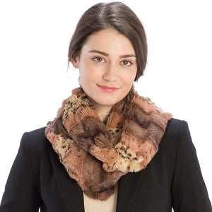Wrap Around Faux Fur Infinity Scarf