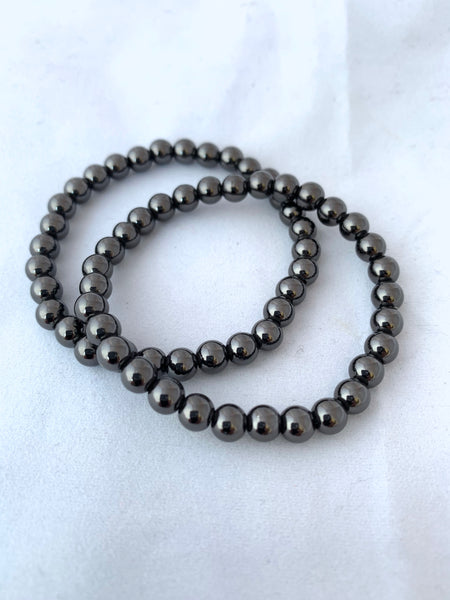 6mm Beaded Ball Stretch Bracelet